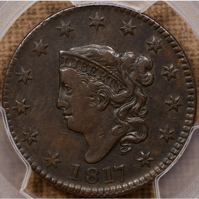 1817 N.15 13 Stars Coronet Head Cent PCGS XF40