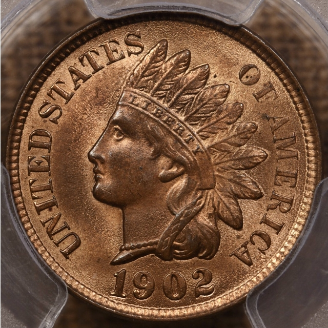 1902 Indian Cent PCGS MS64 RB