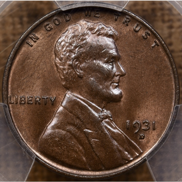1931-D Lincoln Cent PCGS MS64 BN