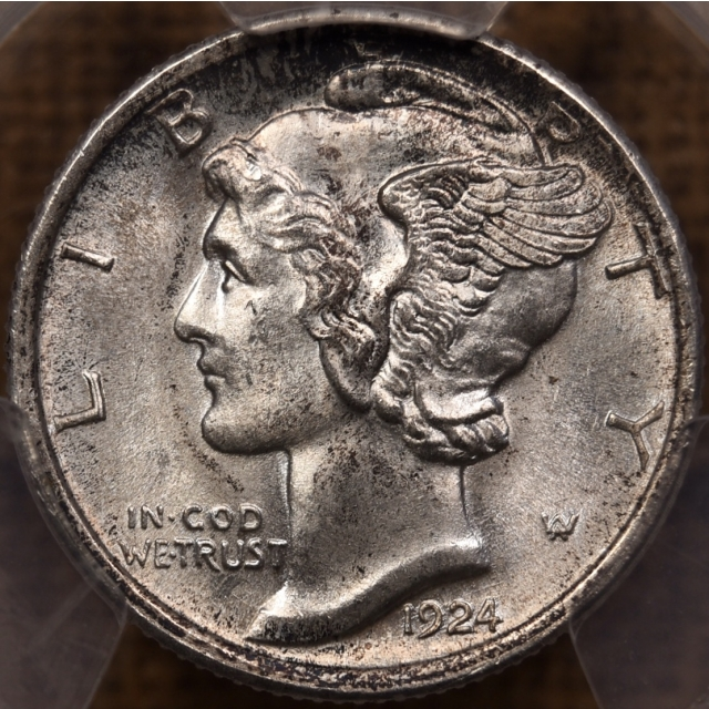1924-D Mercury Dime PCGS MS64+ FB CAC