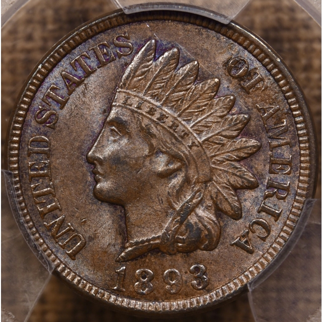 1893 Indian Cent PCGS MS64 BN