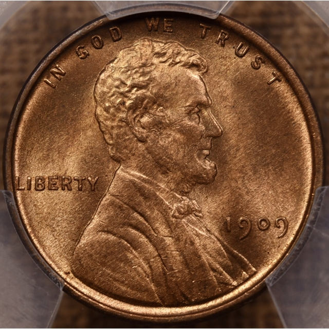 1909 VDB Lincoln Cent PCGS MS65 RD