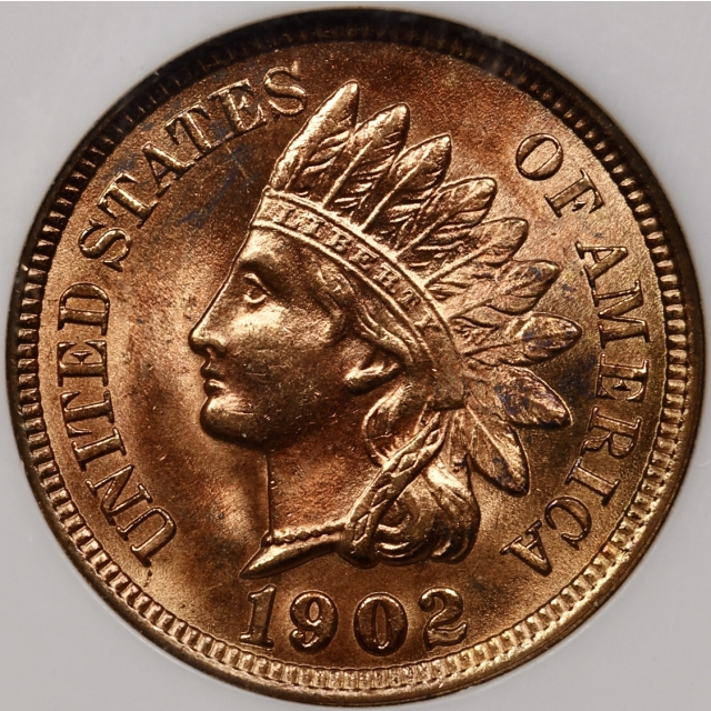1902 S.2 19/19 Indian Cent Old Fatty NGC MS64 RD