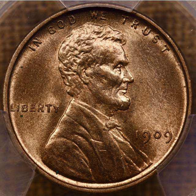 1909 VDB Lincoln Cent PCGS MS64 RD