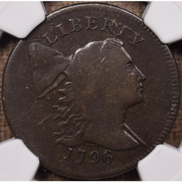 1796 S.81 Liberty Cap Cent NGC VG10 BN CAC