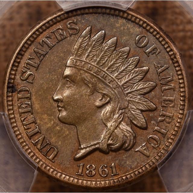 1861 Indian Cent PCGS AU58