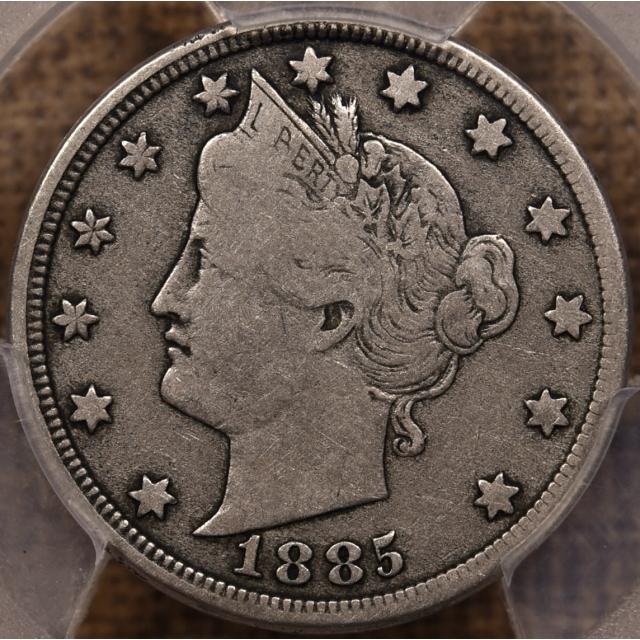 1885 Liberty Nickel PCGS F12 CAC
