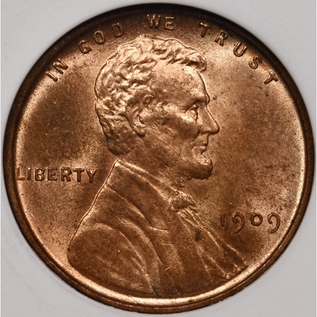 1909 VDB Lincoln Cent ANACS MS64 RD, 1989 Collection
