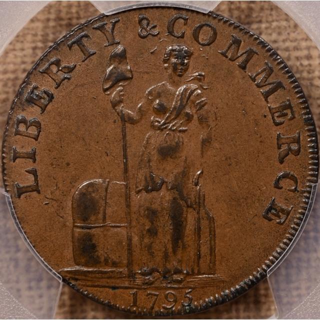 1795 W-8620 Talbot Allum & Lee Cent PCGS AU58