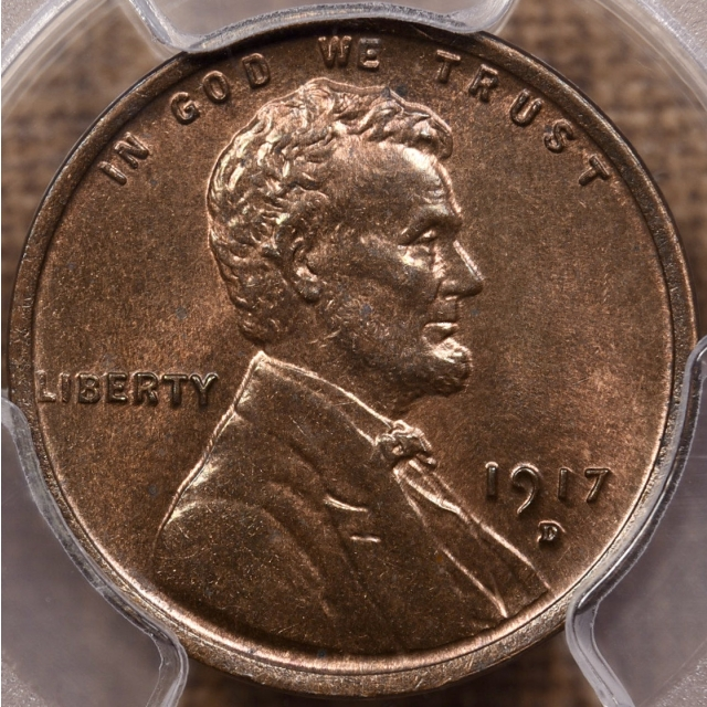 1917-D Lincoln Cent PCGS MS64 RB