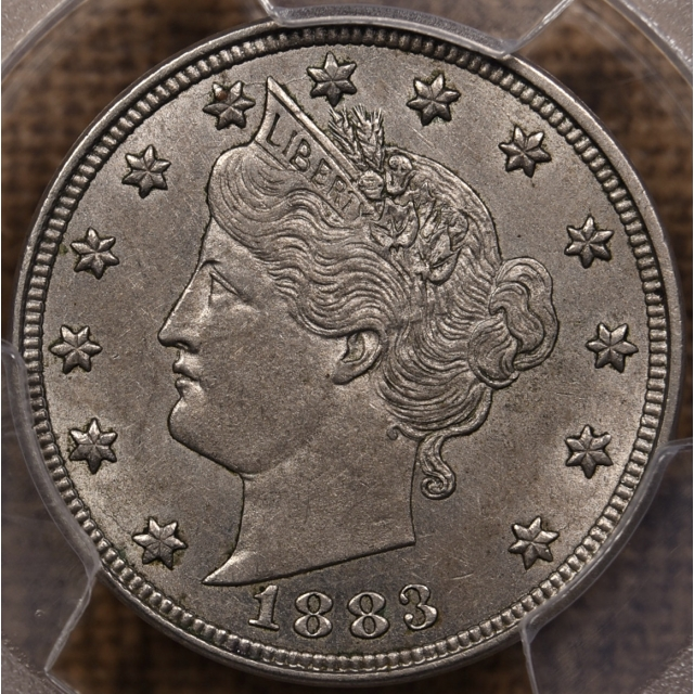 1883 With Cents Liberty Nickel PCGS AU55