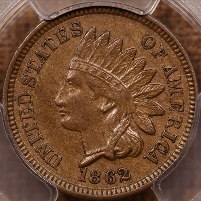 1862 Indian Cent PCGS AU50