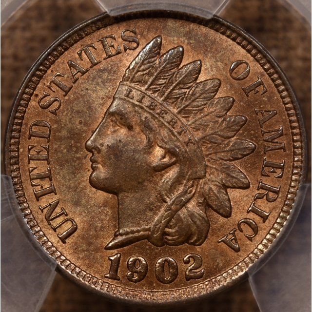 1902 Indian Cent PCGS MS63 RB