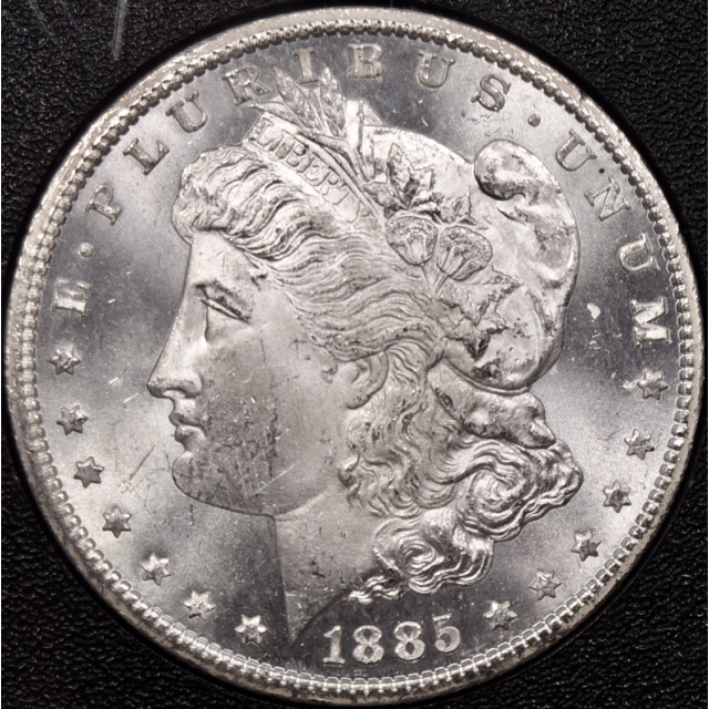 1885-CC GSA Morgan Dollar NGC MS63, I grade 64+ and semi PL