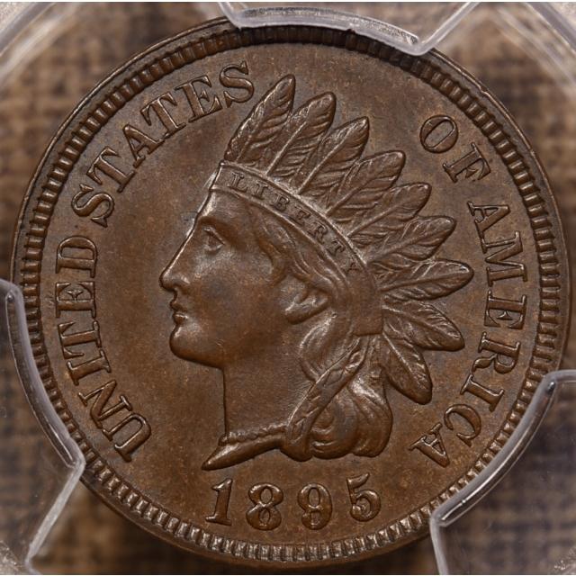 1895 S.1 RPD FS-301Indian Cent PCGS MS63 BN
