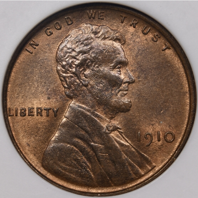 1910 Lincoln Cent old ANACS MS64 RB, 1989 Collection