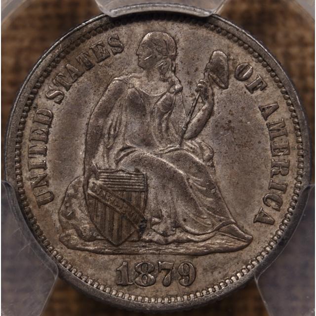 1879 Liberty Seated Dime PCGS AU53 CAC