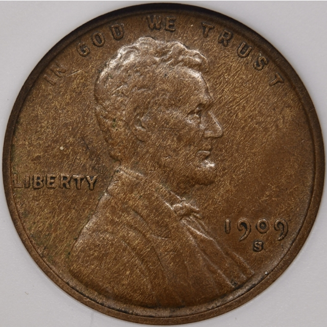 1909-S Lincoln Cent ANACS EF40, 1989 Collection