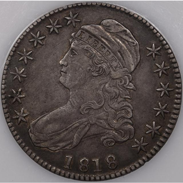 1818 O.112 Capped Bust Half Dollar PCI XF40 (Green)