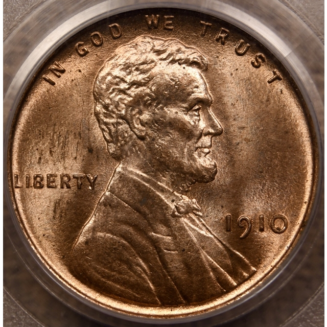 1910 Lincoln Cent PCGS MS65 RD OGH