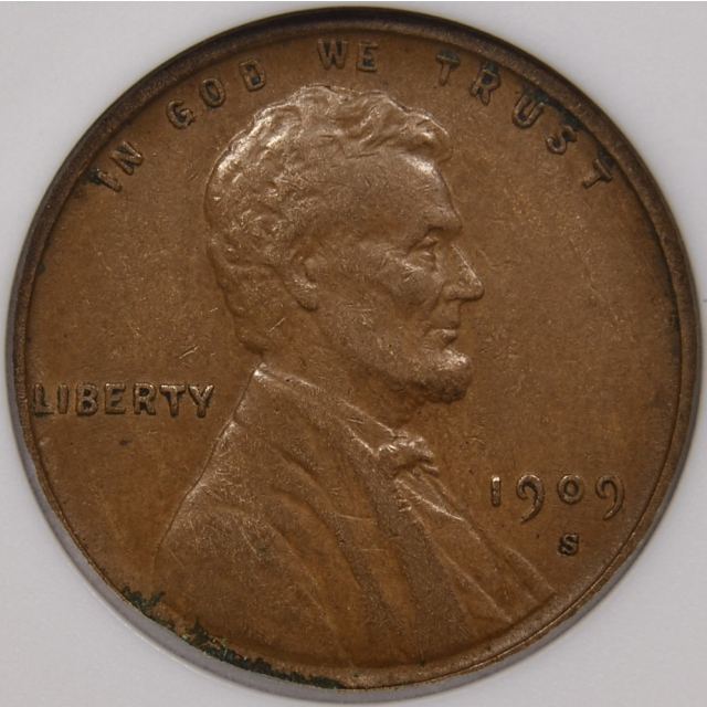 1909-S Lincoln Cent ANACS EF45