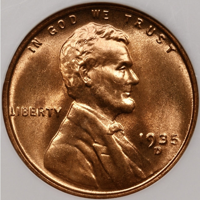 1935-D Lincoln Cent NGC MS66 RD, No Barcode Fatty