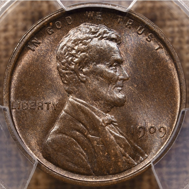 1909 Lincoln Cent PCGS MS65 BN