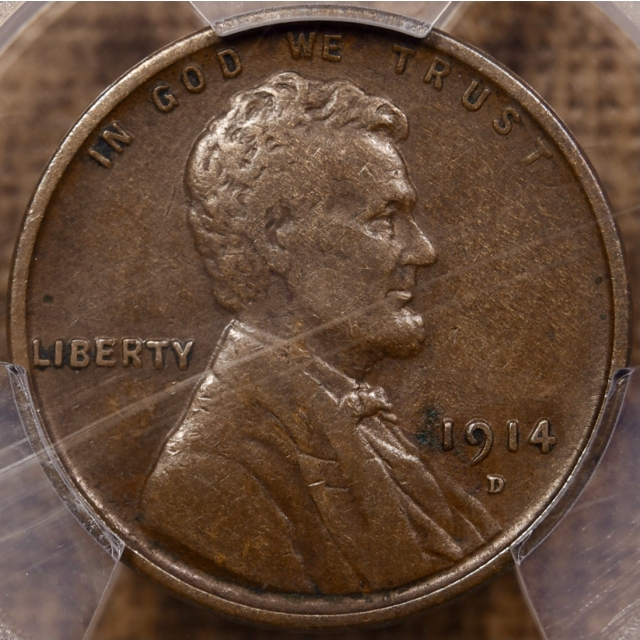 1914-D Lincoln Cent PCGS VF30 CAC