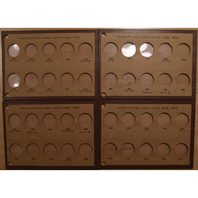 Wayte Raymond National boards for Large Cents, complete 1793-1857