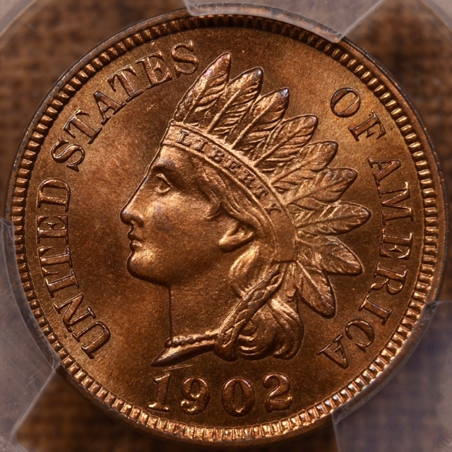 1902 Indian Cent PCGS MS65 RB CAC, We Grade RED!