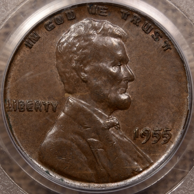 1955 Doubled Die Obverse Lincoln Cent PCGS AU58 CAC