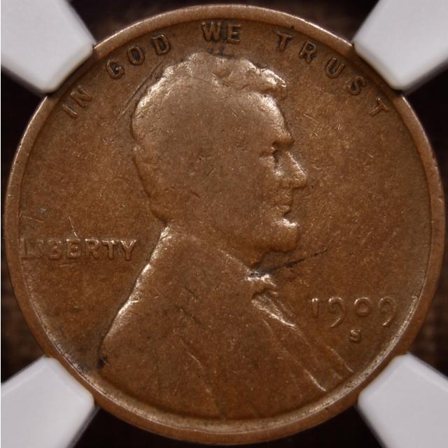 1909-S VDB Lincoln Cent NGC G6 BN