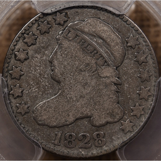 1828 JR-2 Large Date Capped Bust Dime PCGS G6 CAC