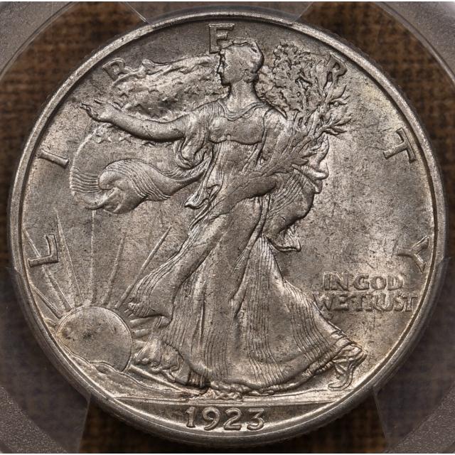 1923-S Walking Liberty Half Dollar PCGS AU58 CAC