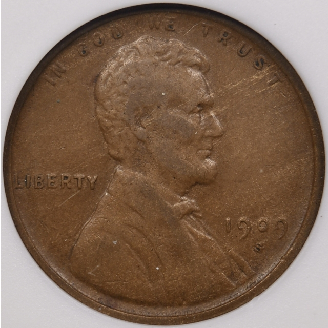 1909-S/ Horizontal S Lincoln Cent ANACS VF30, 1989 Collection