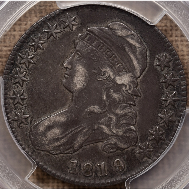 1819/8 O.102 Large 9 Capped Bust Half Dollar PCGS XF40