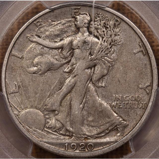 1920-D Walking Liberty Half Dollar PCGS XF40 CAC