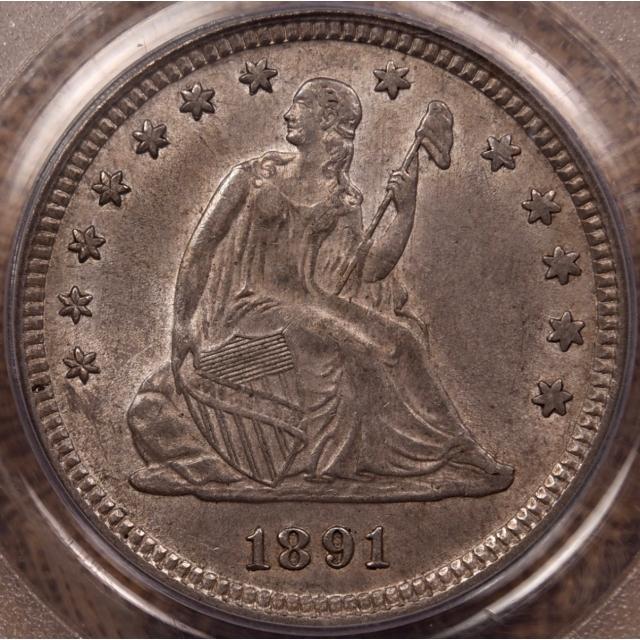 1891 Liberty Seated Quarter PCGS AU55