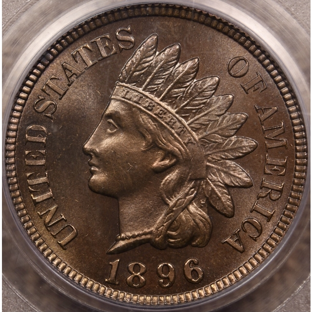 1896 Proof Indian Cent PCGS PR65 RB CAC & Eagle Eye
