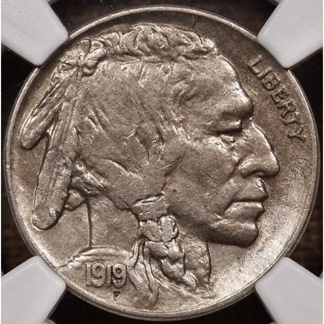 1919-S Buffalo Nickel NGC AU58 CAC