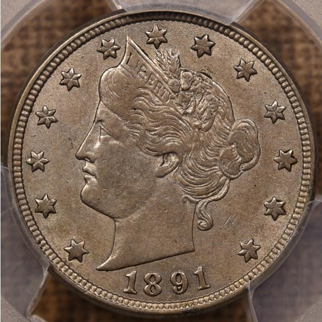 1891 Liberty Nickel PCGS AU53