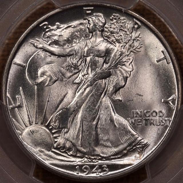 1943-S Walking Liberty Half Dollar PCGS MS65