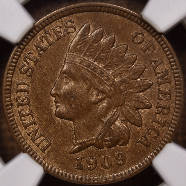1909-S Indian Cent NGC MS62 BN CAC