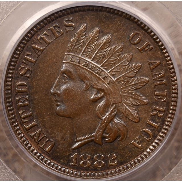 1882 Indian Cent PCGS MS64 BN