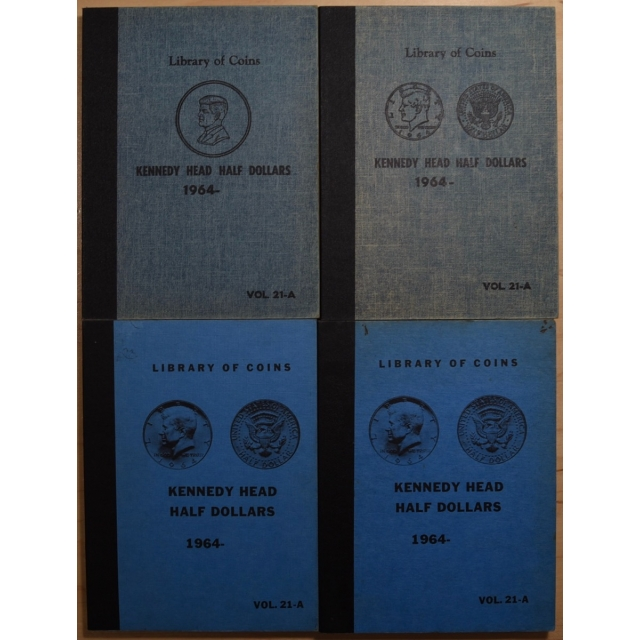 Set of 4 Different Printings of Library of Coins Volume 21-A, Kennedy Head Half Dollars (1964-)