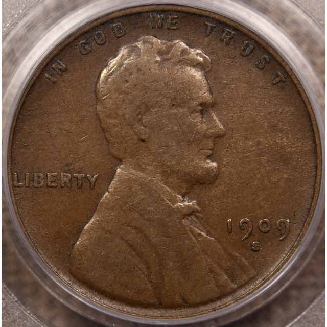 1909-S VDB Lincoln Cent PCGS VF25 CAC