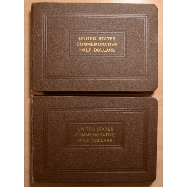 National Coin Album, United States Commemorative Half Dollars, Complete Through 1938 Arkansas, 10 Boards, 2 Albums