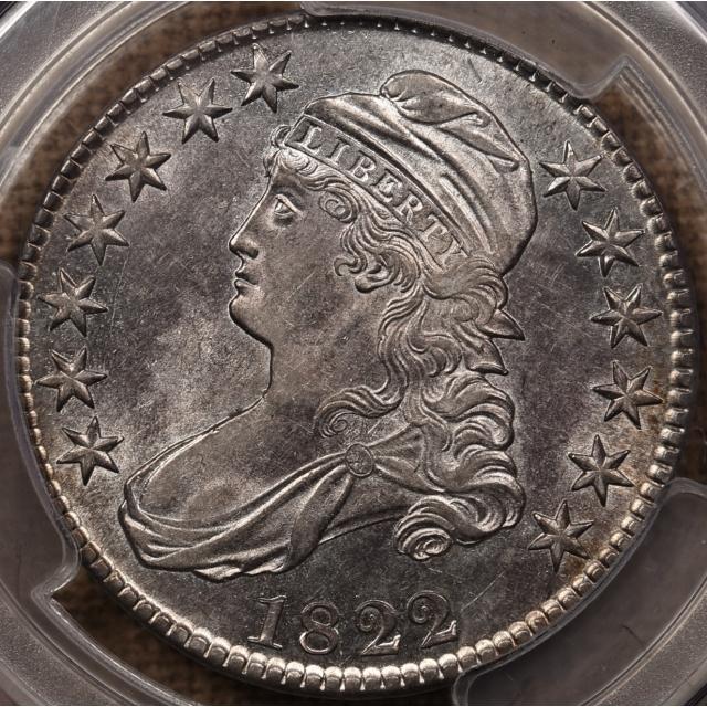 1822 O.110 / 110a Capped Bust Half Dollar PCGS AU58