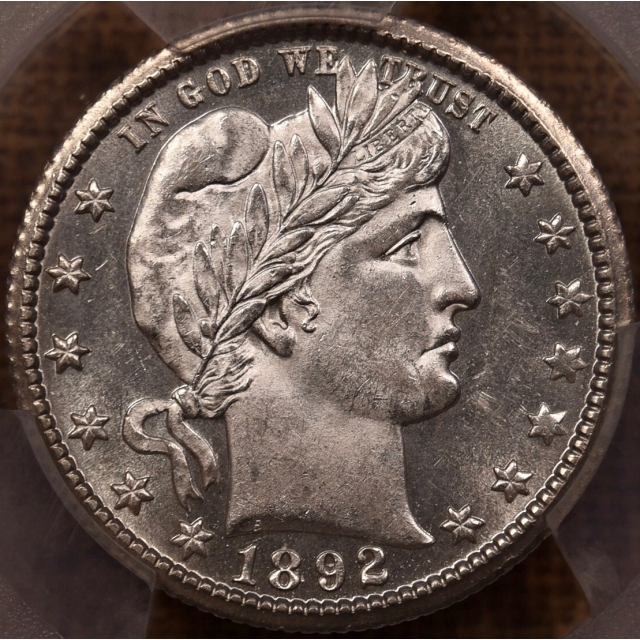 1892-O Barber Quarter PCGS MS63, solidly prooflike