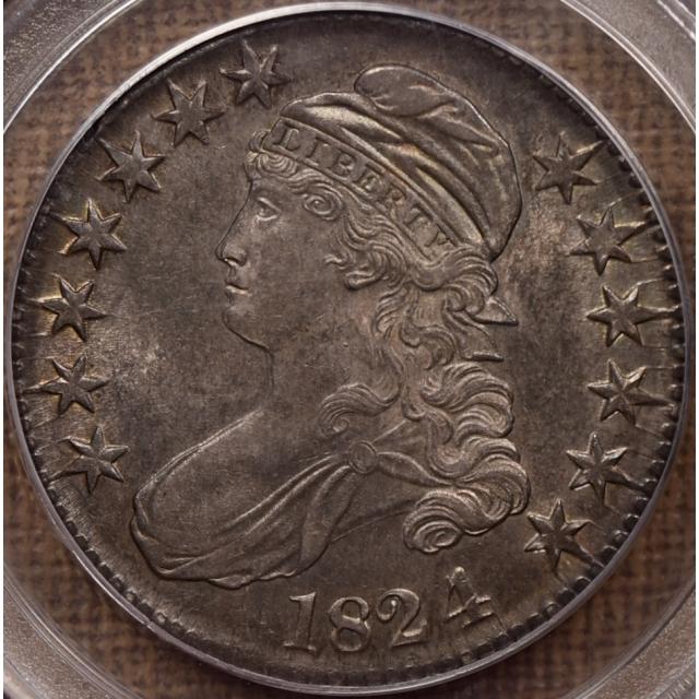 1824/4 O.110a Capped Bust Half Dollar PCGS AU58, ex. Tom Palmer